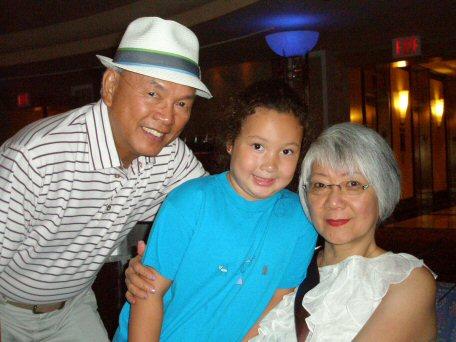 Meg with Grandparents