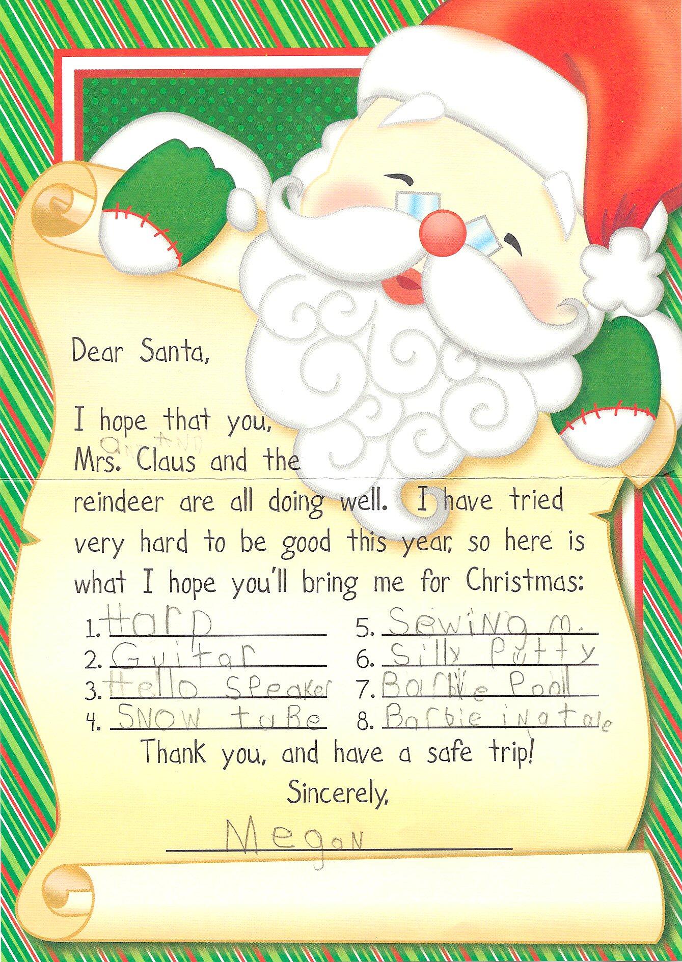 Santa Letter 2010
