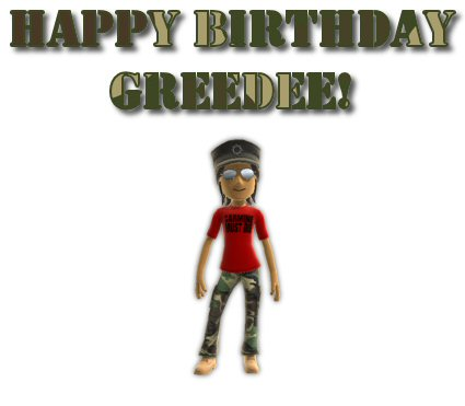 GreedeeBirthdayCard