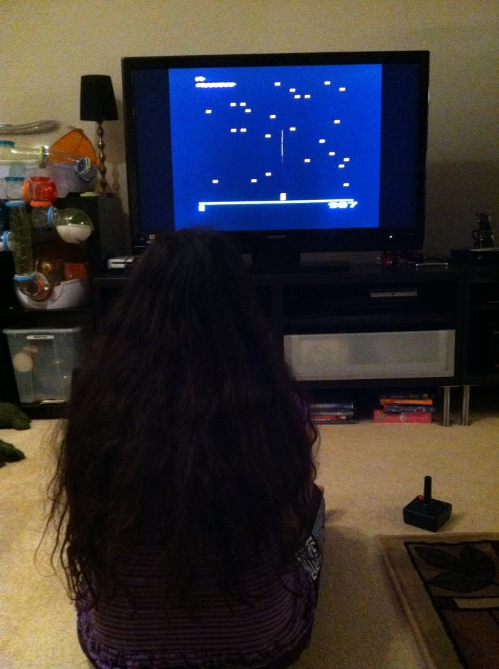 Megan Playing Atari